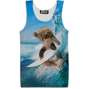 Surfing Sloth Tank