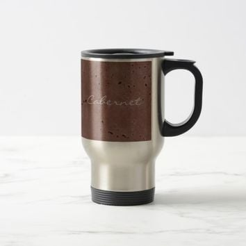 Cabernet Wine Red Travertine Travel Mug