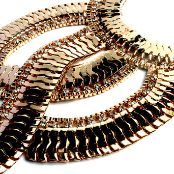 """Make A Statement"" Gold Statement Necklace"