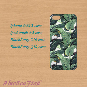 iphone 4 case,iphone 5 case,ipod touch 4 case,ipod touch 5 case,Blackberry z10 case,Blackberry q10 case--Banana Leaf,in plastic and silicone