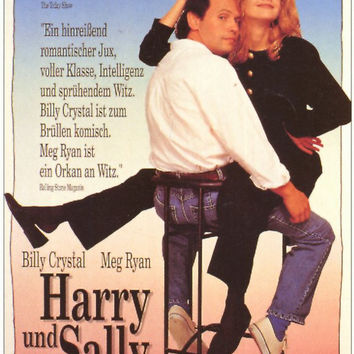 When Harry Met Sally (German) 11x17 Movie Poster (1989)