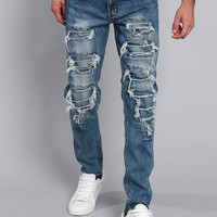 Distressed Denim Jeans DL1215 - H3C