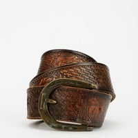 Urban Renewal Vintage Tooled Leather Belt - Urban Outfitters