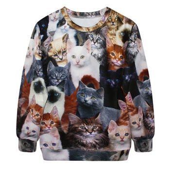 Digital Print Sweatshir- Cats