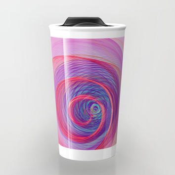 Ring Nebula Travel Mug by Virtualkee