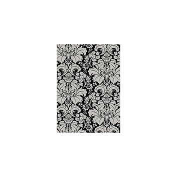 Radici Bella Damask Black/Silver Area Rug