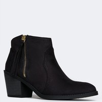 Zeke Western Zipper Booties