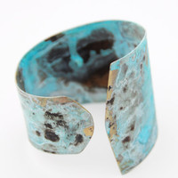 Patina Brass Bracelet Handmade, Hand Forged. Patina Cuff. Patina Jewelry