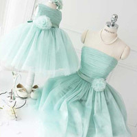 Bow Girl Dresses 2016 Cute Ball Gown Sleeveless Summer Flower Girl Dresses for Weddings Party Dresses Green Purple Red