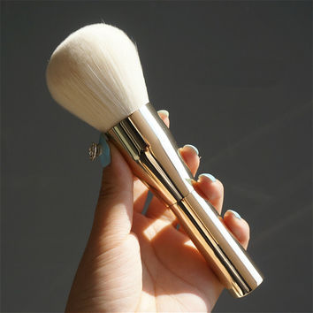 Very Big Beauty Powder Brush Blush Foundation Make Up Tool Large Cosmetics Aluminum Brushes Soft Face Makeup,Free Shipping