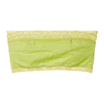 Intimately Free People Women's Scalloped Lace Bandeau - Green -