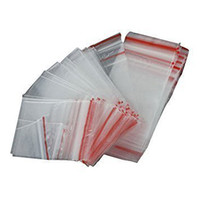 IMC Hot 100Pcs Ziplock Lock Zipped Poly Clear Bags Plastic Zip 7*10CM