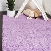 8000 Lilac Solid Color Shag Area Rugs