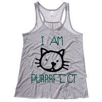 I Am Purrrfect Kids Tank