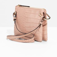 & Other Stories | Reptile Embossed Bag | Pink
