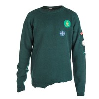 Raf Simons Rib Knit Sweater with Badges (Green) – RSVP Gallery