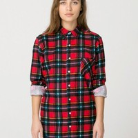 American Apparel - Unisex Flannel Long Sleeve Button-Up