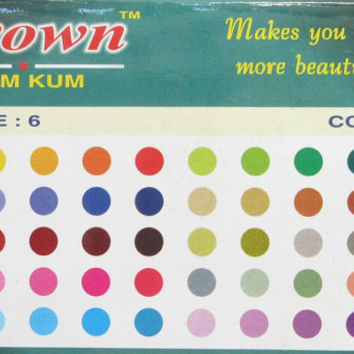 160 Beautiful color Bindis In one pack  Indian Bindis/  Body Tatoo Art/ Indian Body Art/Belly Dance Accessory/
