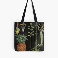 'Botanical Pineapple' Tote Bag by bluespecsstudio