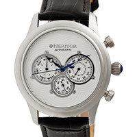 Crocodile Embossed Leather & Stainless Steel Watch, 42mm