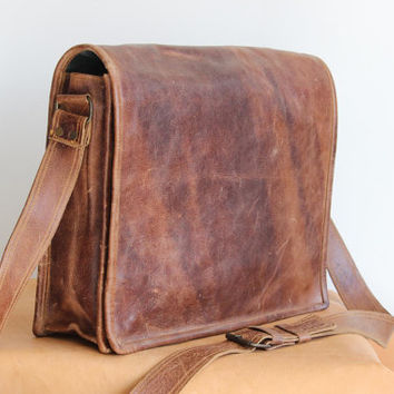 Leather messenger bag, Leather satchel bag, laptop bag, best for college, back to school, gift for him and her, leather bag