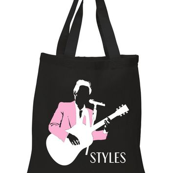 "Harry Styles ""Pink Jacket Stencil"" Tote Bag"