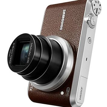 "Samsung WB350F 16.3MP CMOS Smart WiFi & NFC Digital Camera with 21x Optical Zoom, 3.0"" Touch Screen LCD and 1080p HD Video (Brown)"