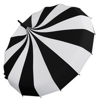 "Restyle Goth Steampunk ""CABARET"" Waterproof STRIPES umbrella - parasol"