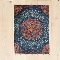 Hand Block Printed Medallion Floor Mat