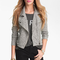 Fire Bouclé Biker Jacket (Juniors) | Nordstrom