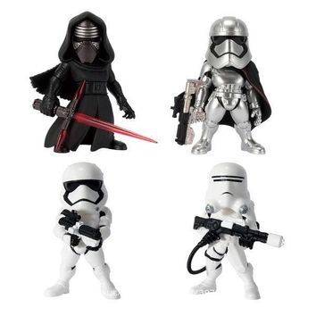 Star Wars Force Episode 1 2 3 4 5 Disney  4pcs/set Kylo Ren Stormtrooper Flametrooper Captain Phasma Action Figure Anime Collection Figurine Toys model AT_72_6