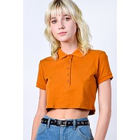 Crawford Cropped Polo Top