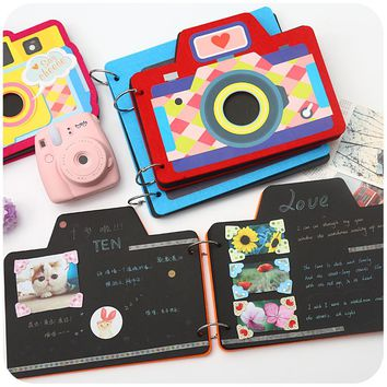 Creative Cute Scrapbooking DIY Photo Album Baby Scrapbook Album Movie Ticket Coin Collector Album