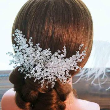 2017 Elegant Wedding Bridal Hair Accessories Jewelry Handmade Crystal Rhinestone Bridal Party Prom Pageant Hair Comb Hairpins