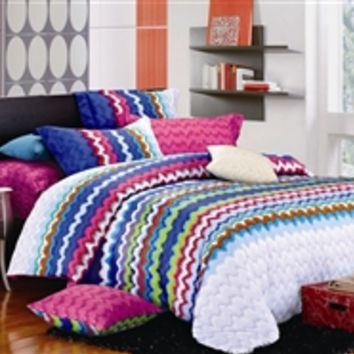 Rainbow Splash Twin XL Comforter Set - College Ave Designer Series