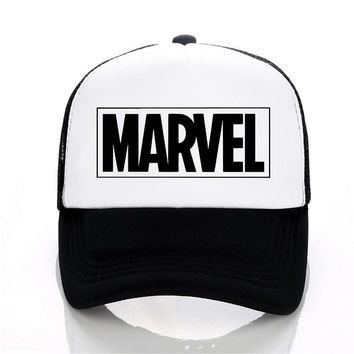 792ee8f0bbf Trendy Winter Jacket MARVEL letter Baseball Caps Summer Leisure