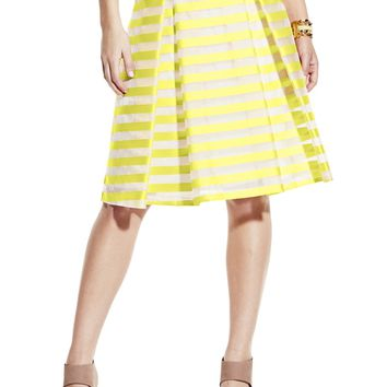 Vince Camuto Striped A- Line Skirt