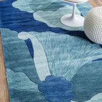 Rugs USA Amulet Floral TL04 Blue Rug