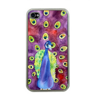 iPhone Case Peacock iPhone Cover 4 or 4s by HeavenlyCreaturesArt