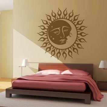 Tribal and Animal Stickers - Sun and moon tribal - Wall Decals , Home Art and Car Stickers