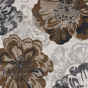 8218 Ivory Floral Area Rugs