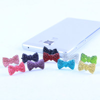 Earphone Limited Dust Plug Dachshund New Cute Bowknot Dustproof Plug Caps Cell Phone Accessories