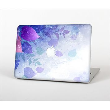 The Magical Abstract Pink & Blue Floral Skin Set for the Apple MacBook Pro 13""