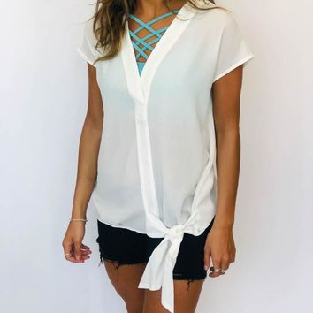 Tie Top - Off White