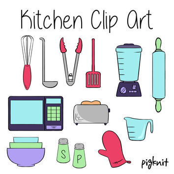 Kitchen Clip Art, Appliance Clip Art, Cooking Clip Art, Baking Clipart, Kitchen Utensil Graphics, Classroom Download, Classroom Kitchen