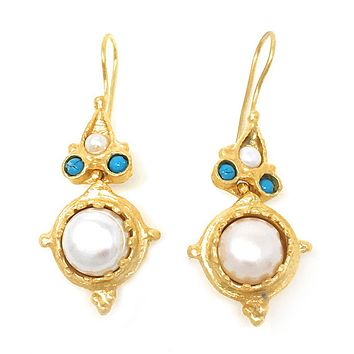 High Tea Freshwater Pearl Earrings E574aox