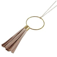 Leather Tassel Fringe Necklace