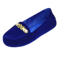 Soft Velvet Moccasin Loafers