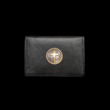Western Cross Leather Business Card Holder