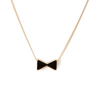 Bow-Tie Charm Necklace